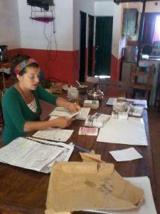 Entrega de Libretas en Centro Vecinal de Forchieri