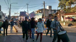 Protesta contra fábrica de chacinados