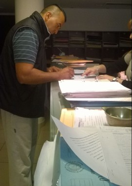 Ariel Mendoza- Firma Denuncia Penal