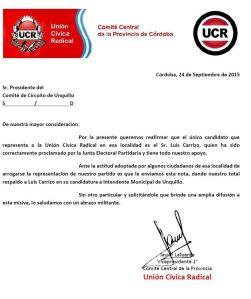 Comunicado UCR Cba