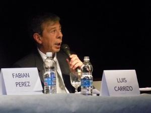 Foto de Archivo: Luis Carrizo en debate de Candidatos a Intendente 2015