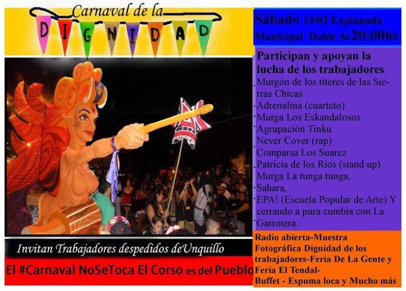Carnaval por la dignidad