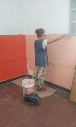 Docentes arreglan colegio Vélez Sarsfield