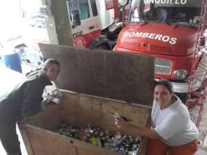 Bomberos campaña recolección hojalata